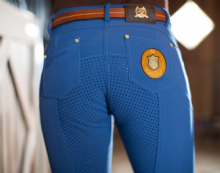 LAURIA GARRELLI ROMA SOFT SHELL BREECHES - ROYAL BLUE - SALE RRP £109